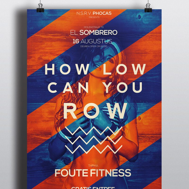 How Low Can You Row Poster 2016