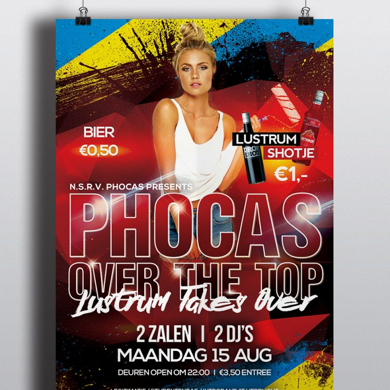 Phocas Over The Top Poster - Lustrum 2016